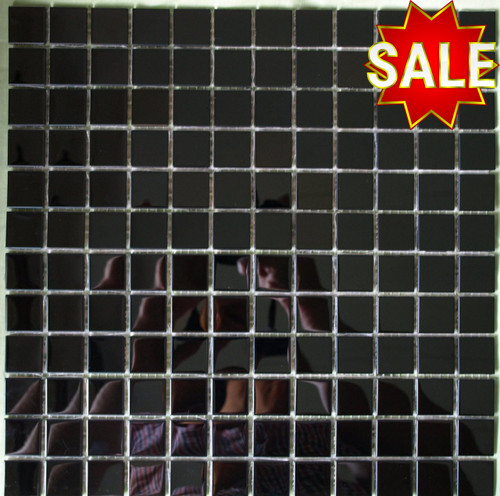 Black stainless steel mosaic tiles