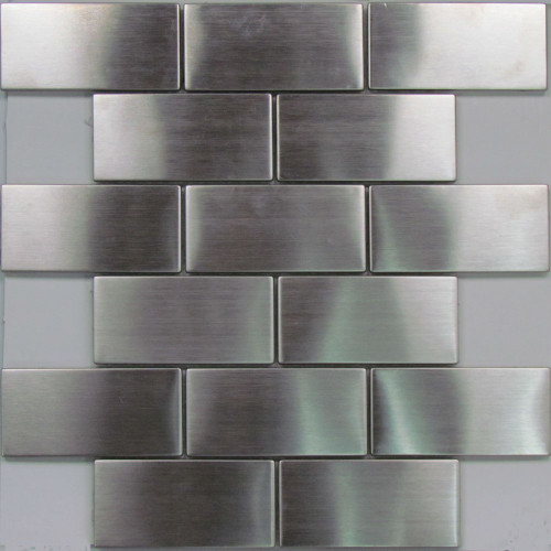 Stainless steel subway mosaic tiles
