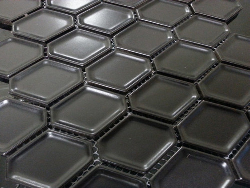 Black honeycomb porcelain wall tiles