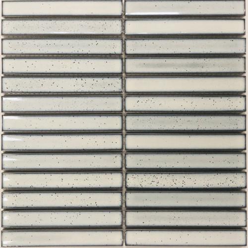 Antique look white mosaic tiles