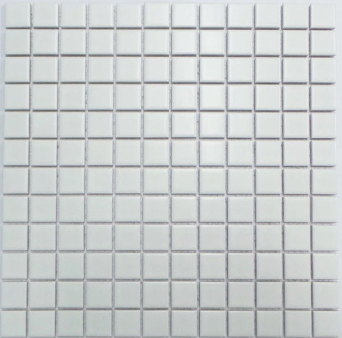 23mm white porcelain mosaic tiles