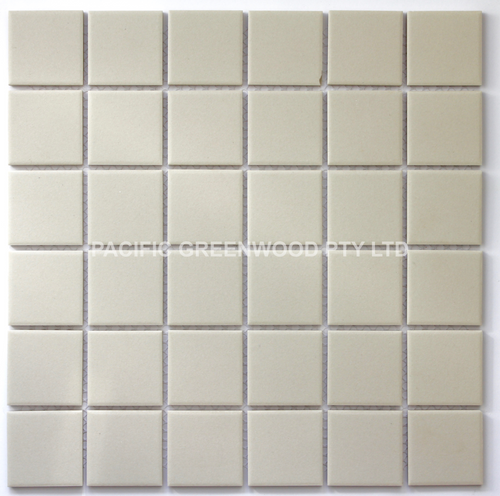 unglazed square 48mm porcelain mosaic tiles