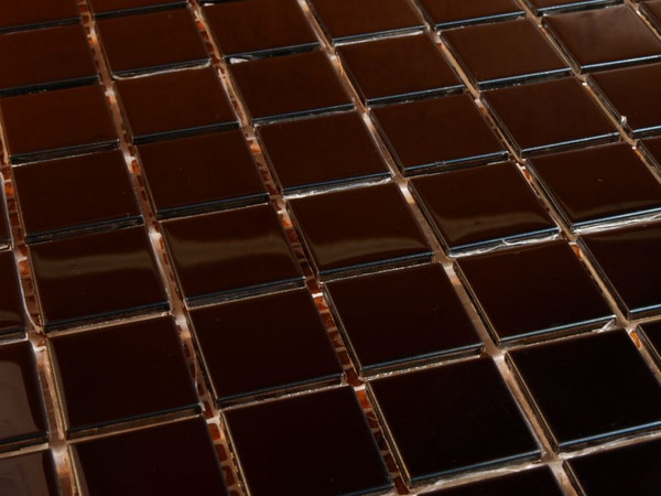 Polished stainless steel mosaic tiles