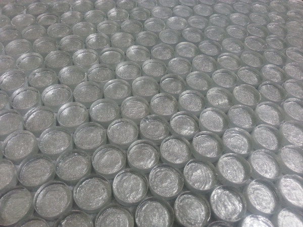 JS01R Silver Penny Round Glass Mosaic Tiles