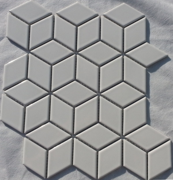 Gloss white porcelain mosaic tiles