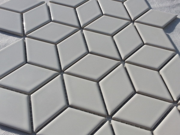Close up gloss white porcelain tiles