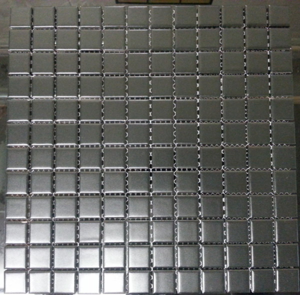 Black matte square porcelain mosaic tiles