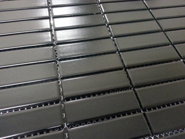 Black rectangle porcelain tiles
