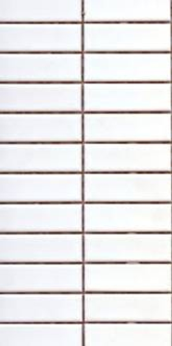 PG27 Matte White Rectangle Mosaic Tiles