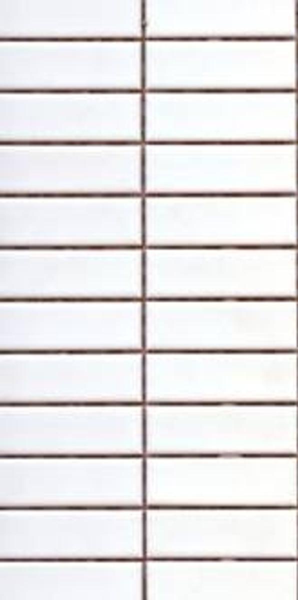 PG27 Matte White Rectangle Mosaic Tiles