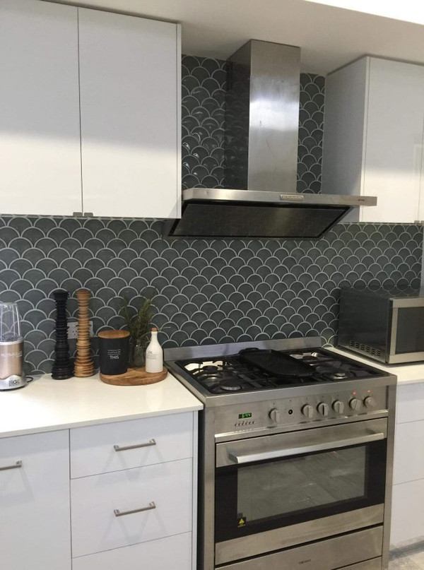kitchen splashback porcelain mosaic tiles