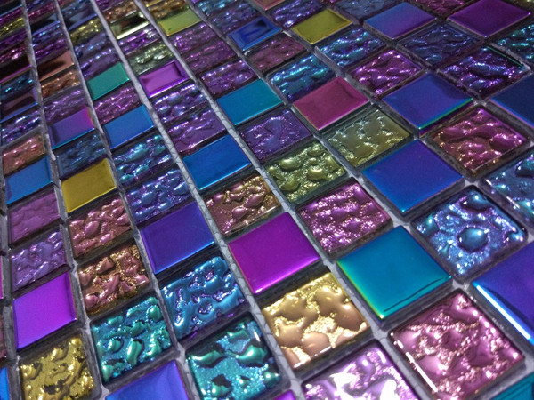 multi colour glass mosaic