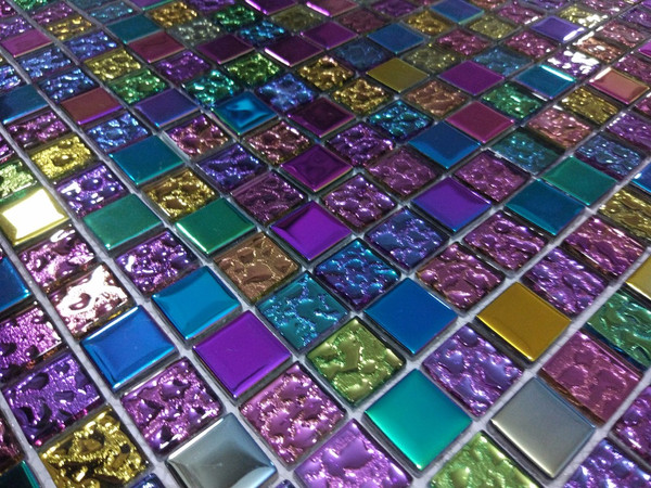 Y1 Rainbow Glass Mosaic Tiles