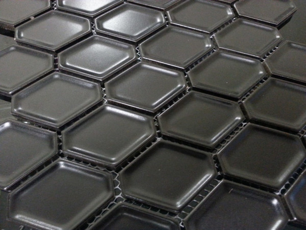 Black honeycomb porcelain wall tiles