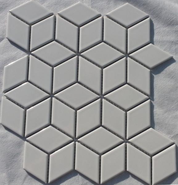 Gloss white porcelain mosaic tiles