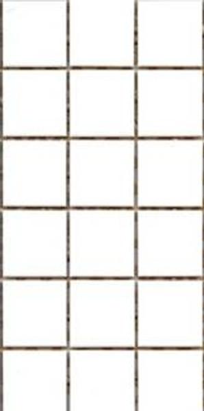 Matte white 48 x 48mm porcelain tiles