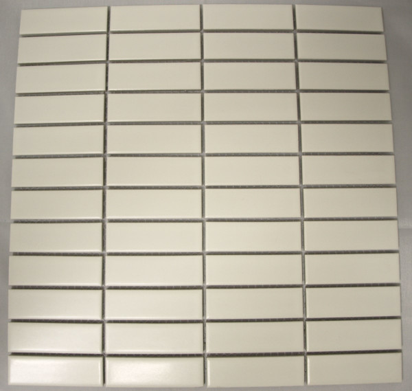 Matte white rectangle porcelain mosaic tiles