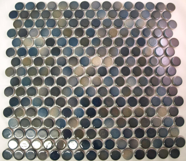 olive brown mix penny round mosaic tiles