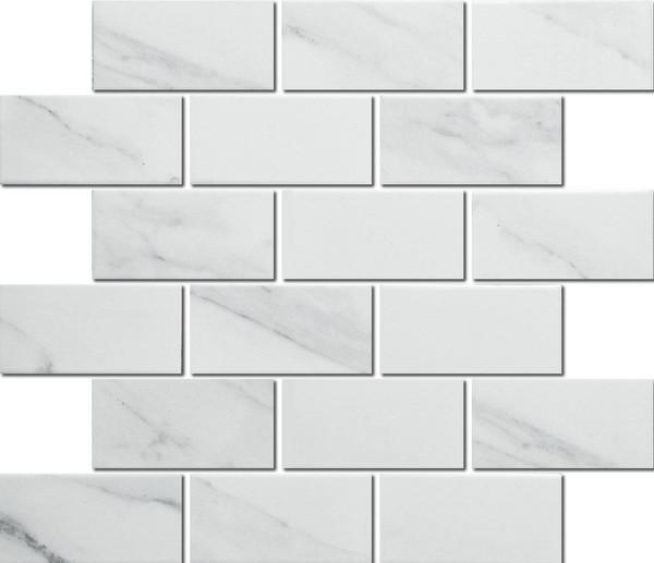 Porcelain carrara mosaic tiles