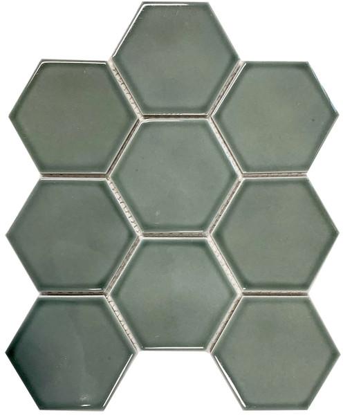 Aqua colour glazed porcelain hexagon mosaic tiles