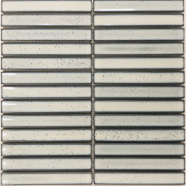 Antique look white mosaic tiles