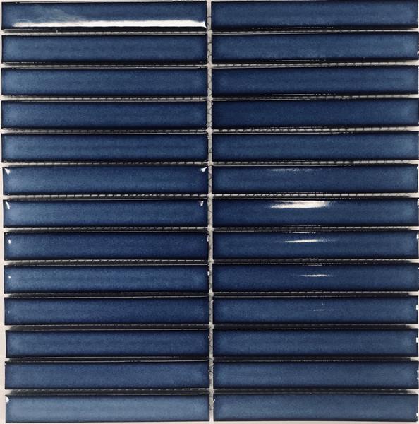 Cobalt blue finger porcelain tiles