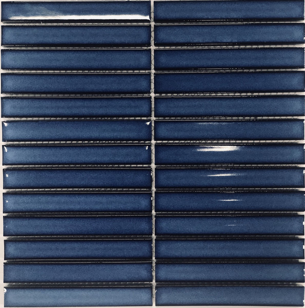 Cobalt blue finger porcelain tiles