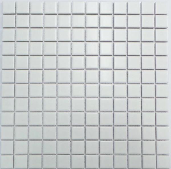 23mm white porcelain mosaic tiles