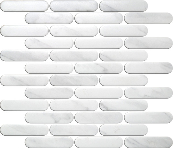 Round Head Carrara Finger Porcelain Tiles