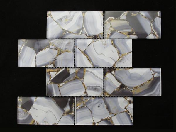 luxury glass mosaic tiles