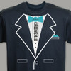 Tuxedo T-shirt - Personalized Groomsman T-Shirt in Teal
