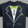 Tuxedo T-shirt - Personalized Best Man T-Shirt in Key Lime