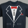 Tuxedo T-shirt - Personalized The Groom T-Shirt in Cherry