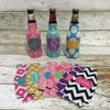 Custom Design Personalized Bottle Coozie with Zipper