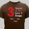 """Brown & Red """"Reasons"""" T-Shirt"""
