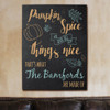 Pumpkin Spice Personalized Wall Canvas in Fall Colors