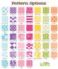 Sticky Note Cube 700 Sheets - Pattern Options