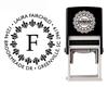 Self-Inking Monogram Fleur de Lis Address Stamp - CS3204