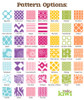 Pattern Options for Personalized Coasters