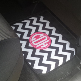 Monogram Personalized Rear Car Mats set of 2