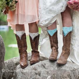 Stretch Lace Boot Cuffs