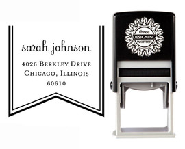 Self-Inking Personalized Tree Design Address Stamp - CS3656