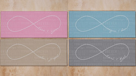 Endless Love Infinity Symbol Personalized Wall Canvas Valentine's Day Gift