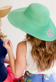 Mint Embroidered Adult Floppy Sun Hat