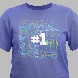 #1 Grandma Violet T-Shirt