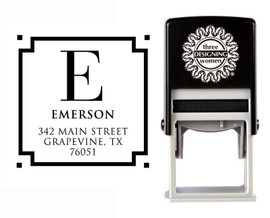 Self-Inking Personalized Monogram Address Stamp - CS3605