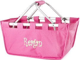 Hot Pink Collapsible Market Tote
