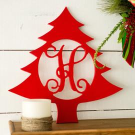 Christmas Tree Decorative Holiday Monogram