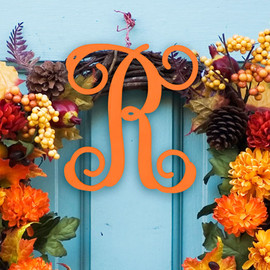 Single Initial Monogram Unfinished Door Hanger or Wall Accent