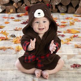 """Beary Bundled"" Bear Hooded Baby Terrycloth Bath Spa Robe"